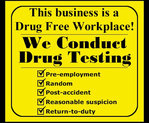Workplace Drug Screening Drug Free Workplace